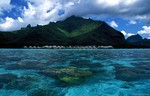 Sailing near Tahiti,